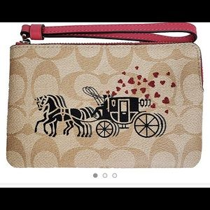 Coach wristlet NWT. Horse & Carriage